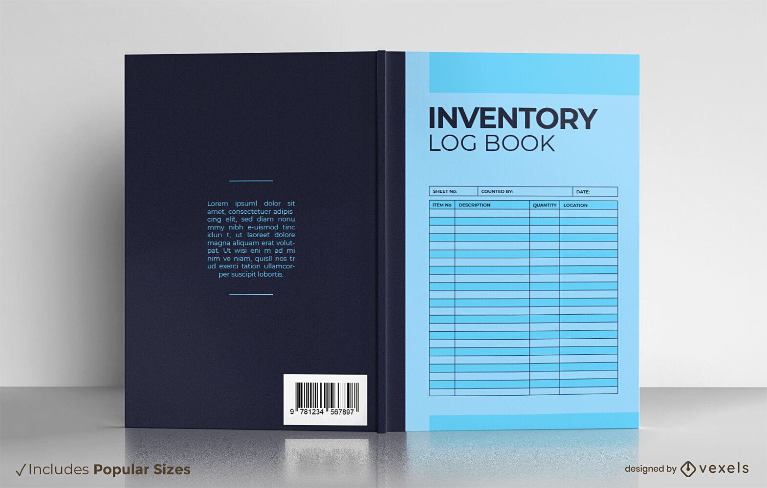 Diseño de portada de libro de registro de inventario
