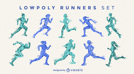 Polygonal color runners set