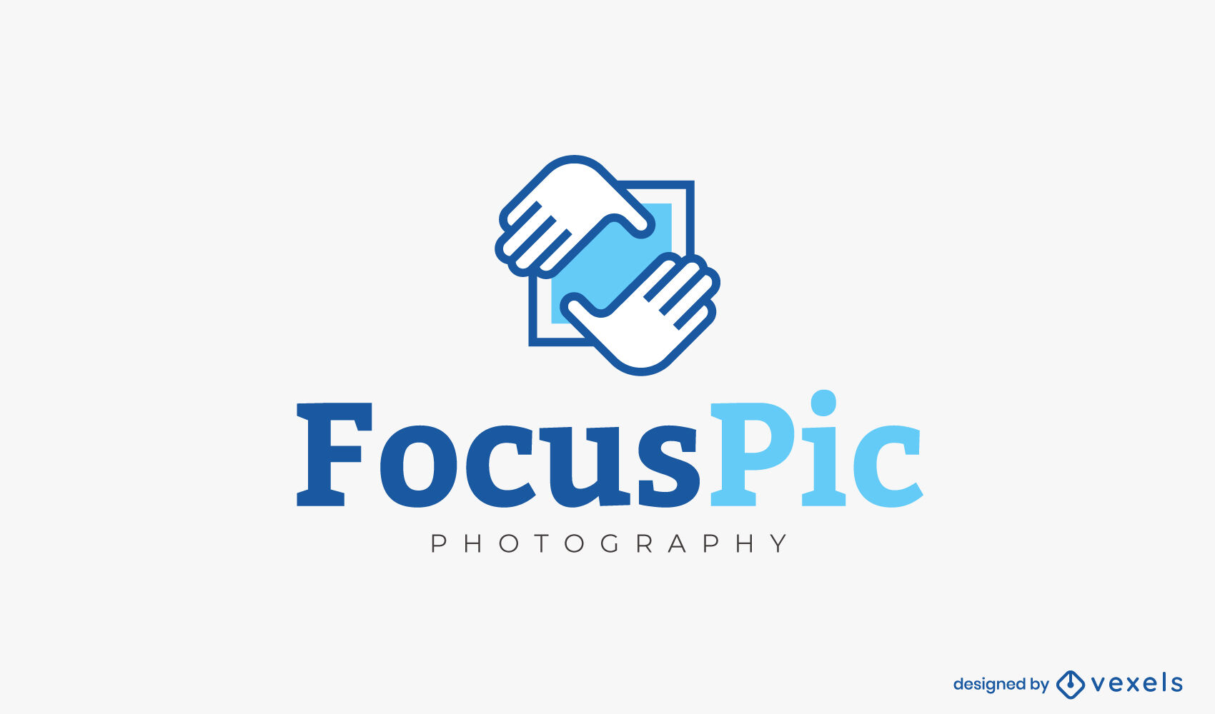 Hands framing photography logo template