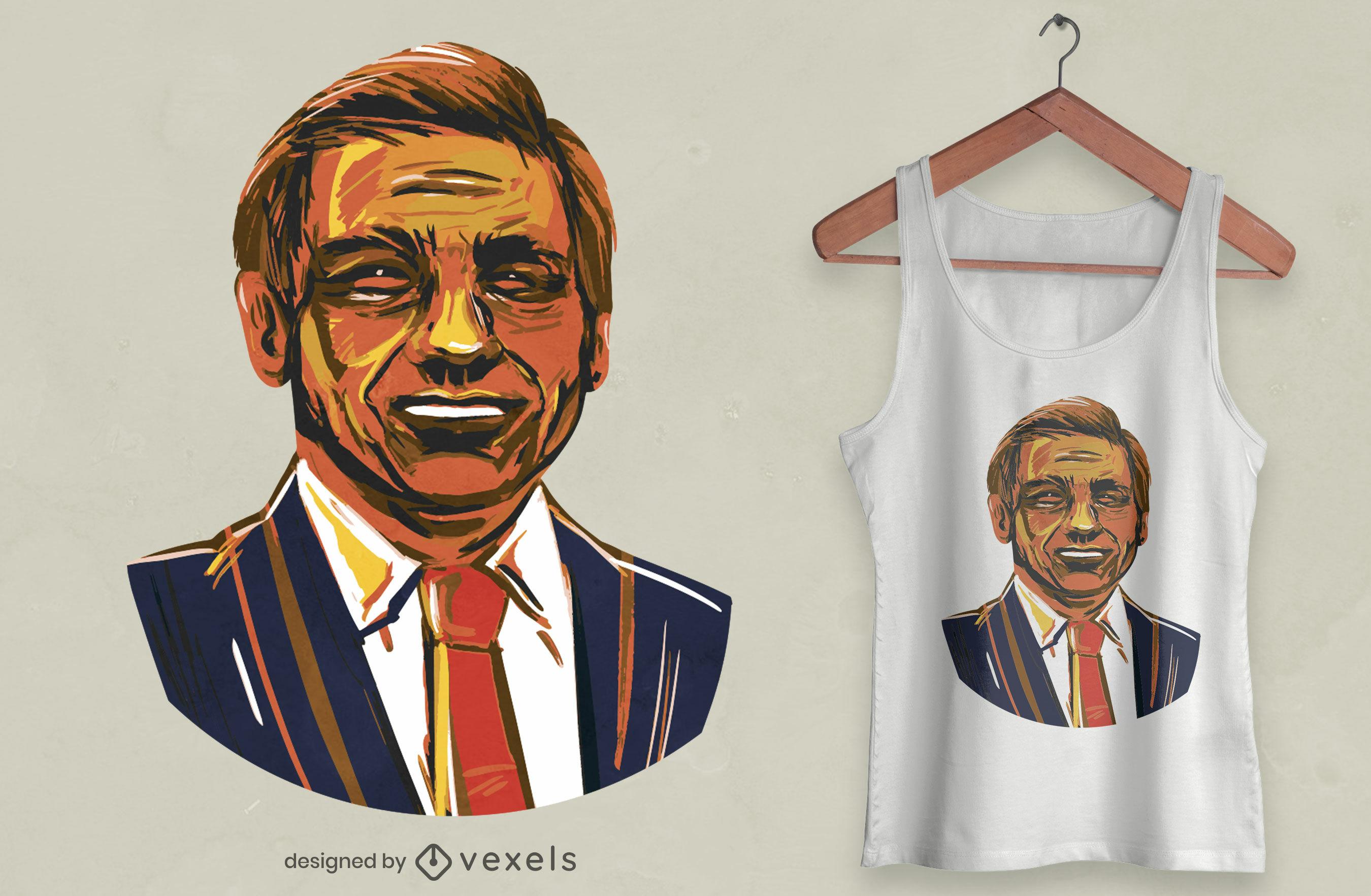 Diseño de camiseta de Ron DeSantis