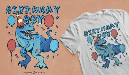 T-rex dinosaur birthday party t-shirt design
