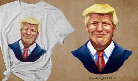 Smiling Trump portrait t-shirt design