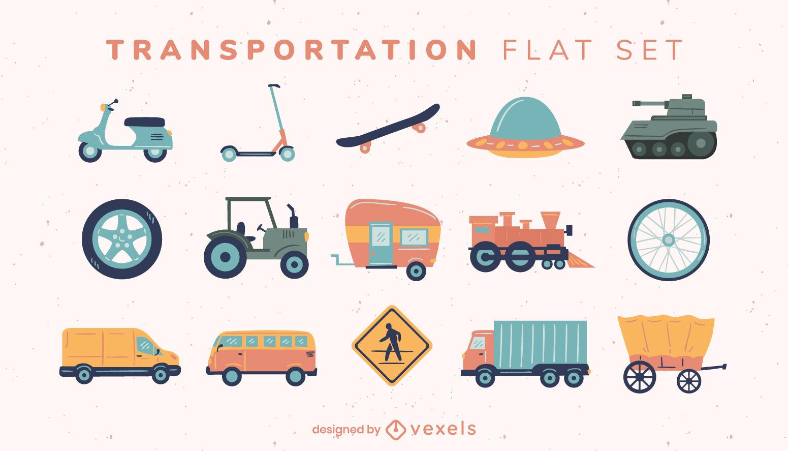 Transport items flat set