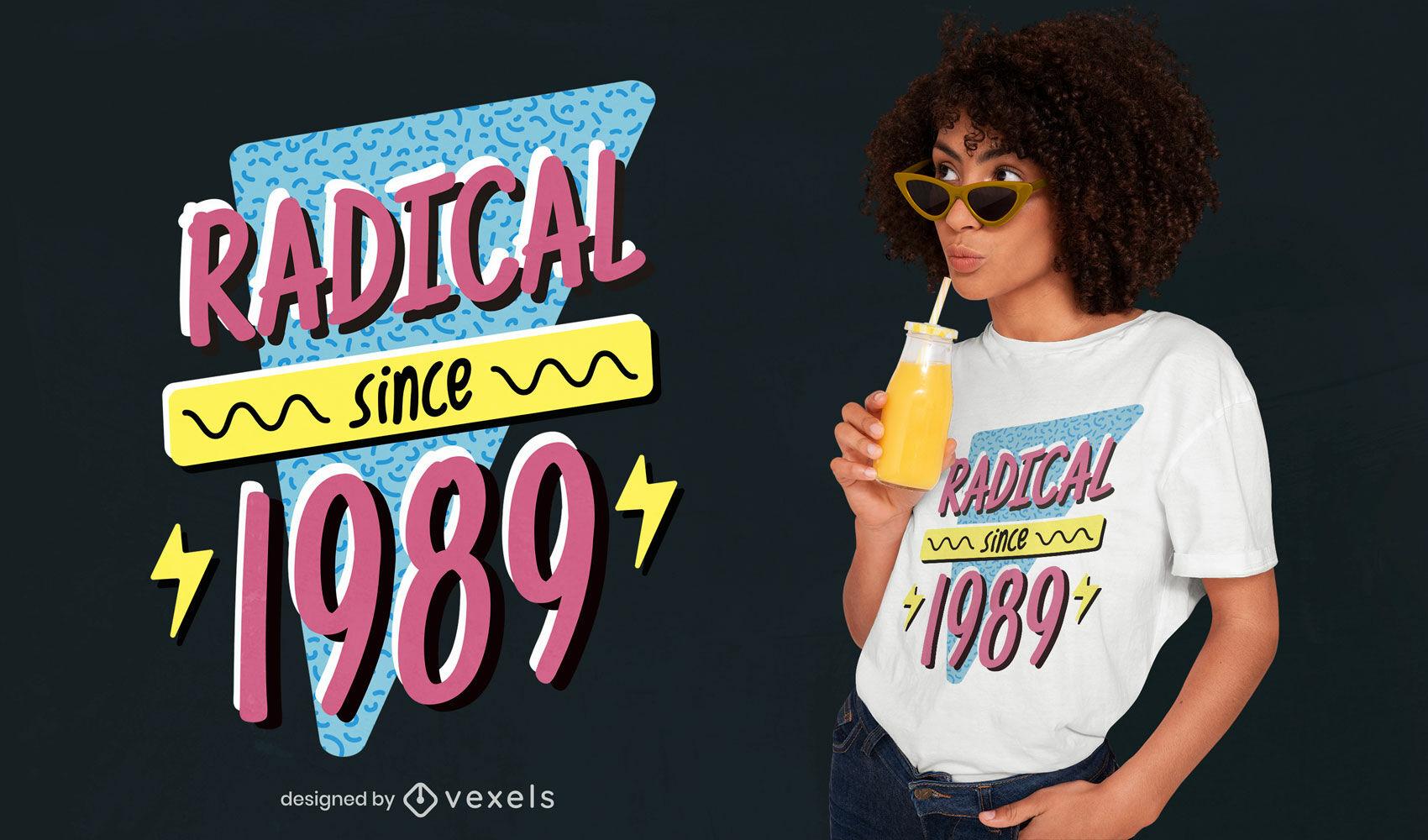 Cool 80's quote diseño de camiseta retro