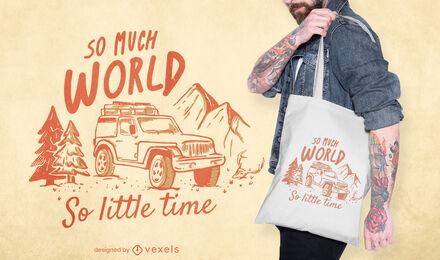 Camping adventure nature tote bag design