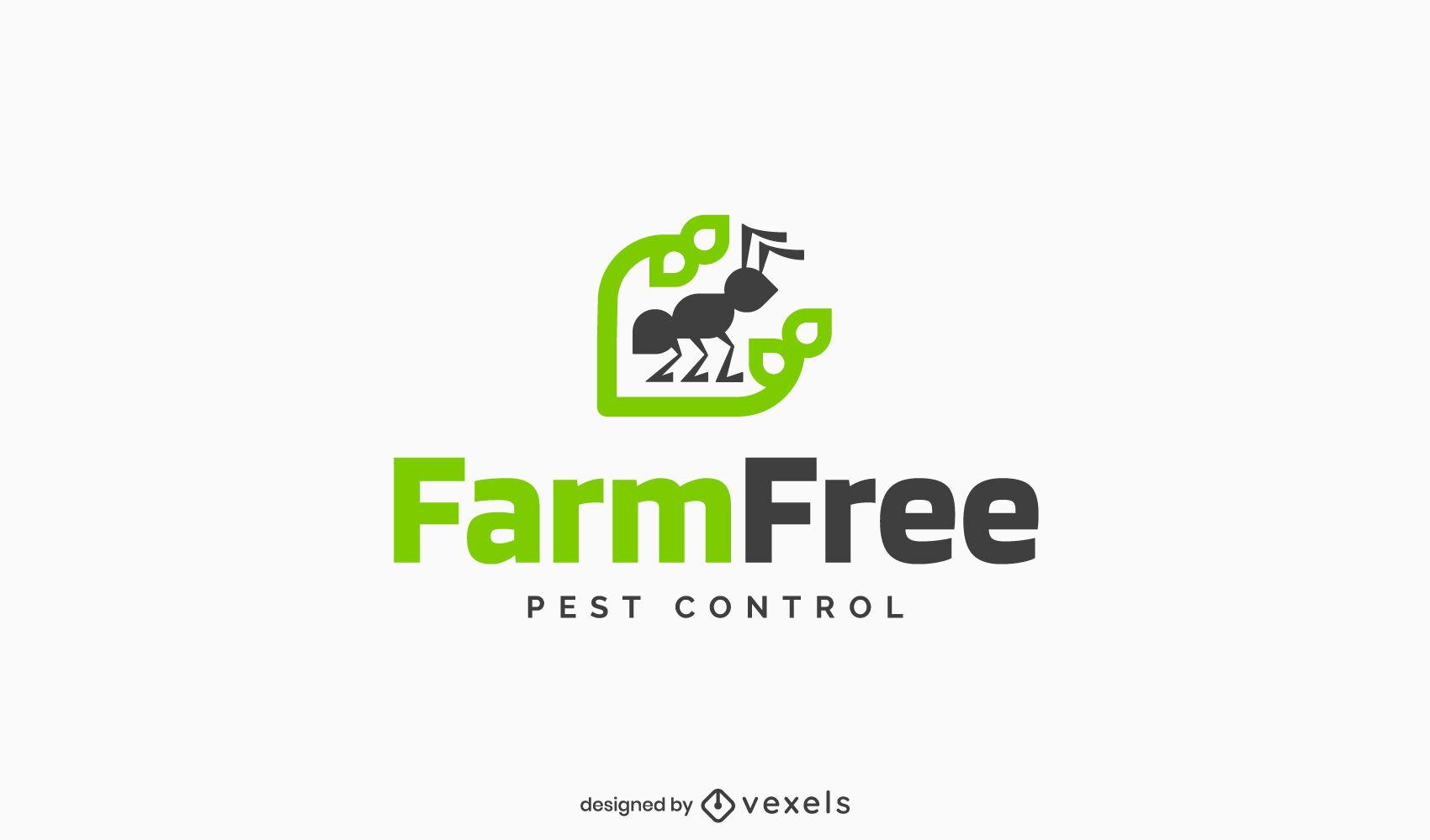Modelo de logotipo de formiga de controle de pragas