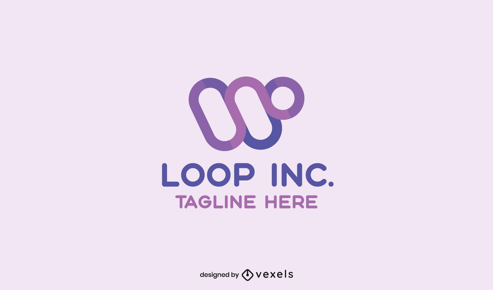 Plantilla de logotipo de trazo de formas circulares genéricas