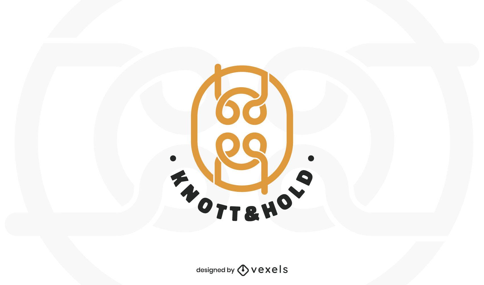 Knot stroke logo template