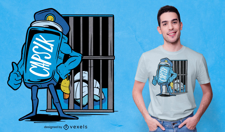 Capslock funny prison t-shirt design