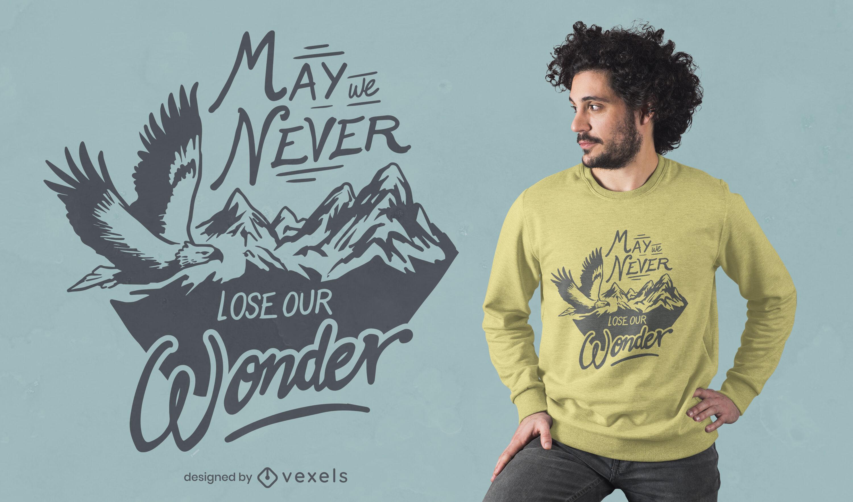 Adlervogel fliegt Natur-T-Shirt-Design