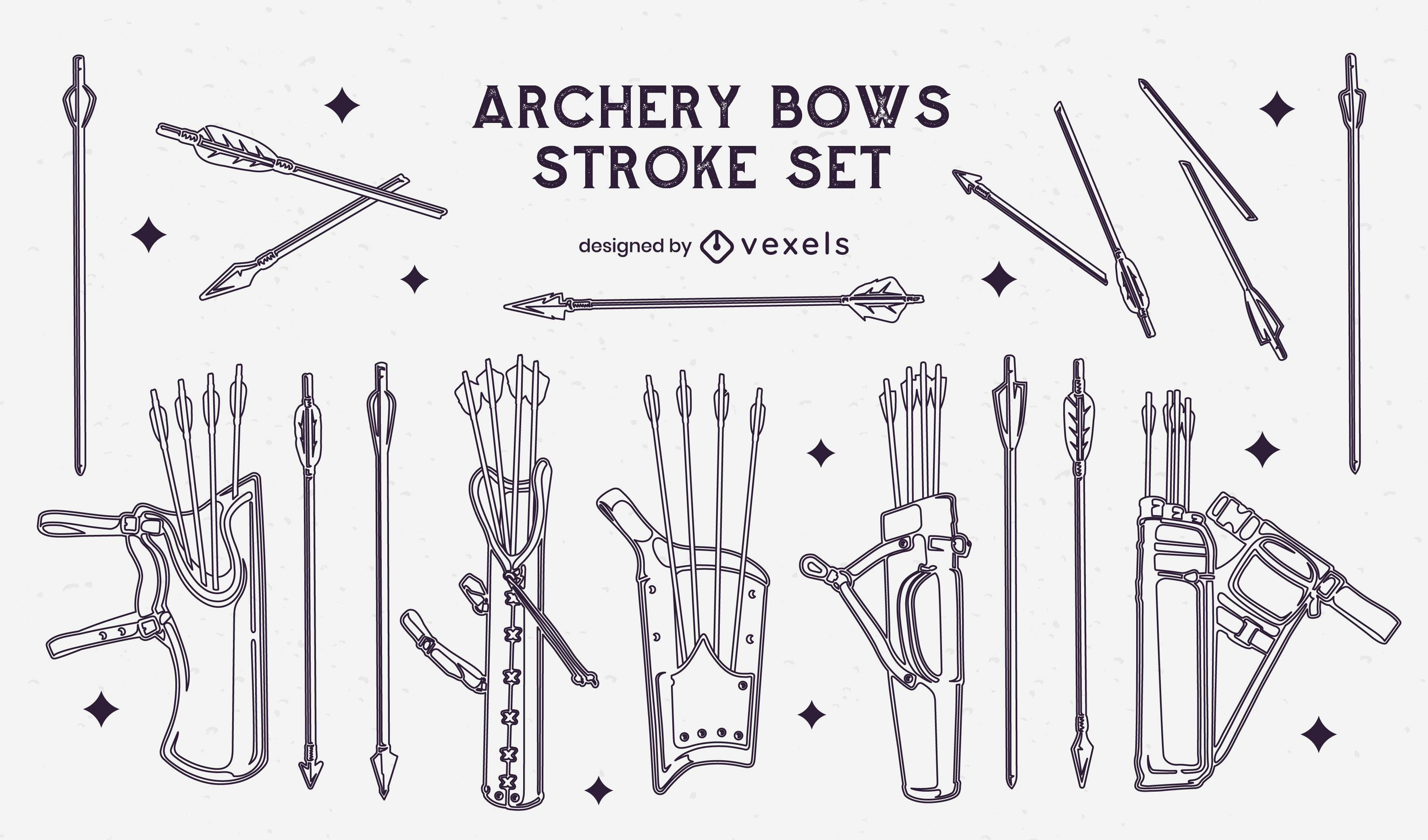 Archery stroke arrows set