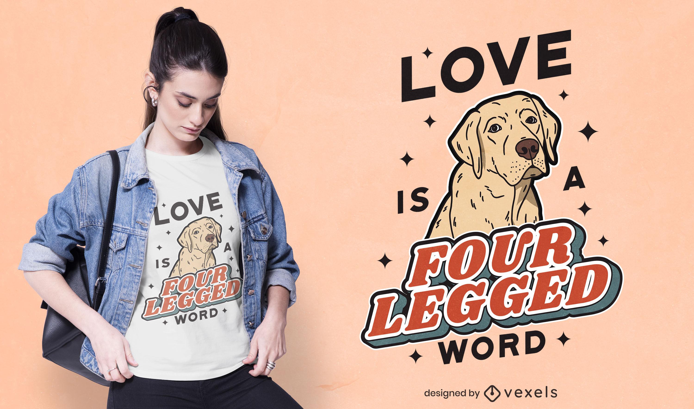 Labrador Hund Tier lustiges T-Shirt Design