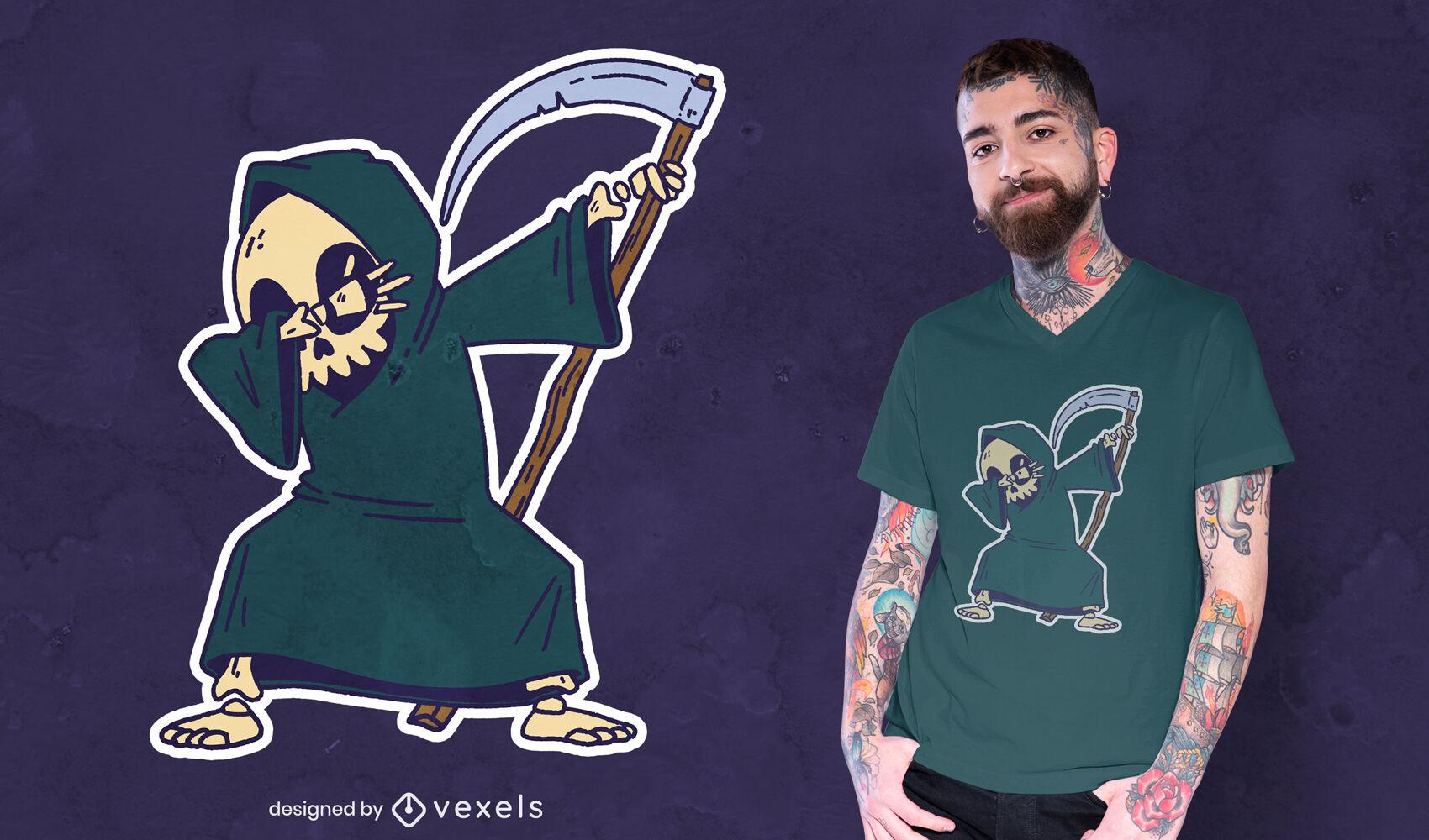 Grim reaper dabbing t-shirt design