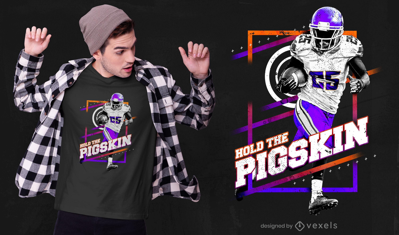 Football player psd t-shirt design
