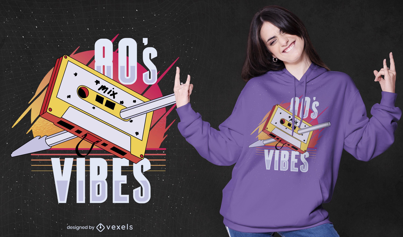80s vibes casette t-shirt design