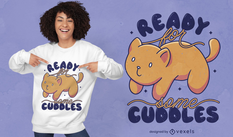 Cuddle cat t-shirt design