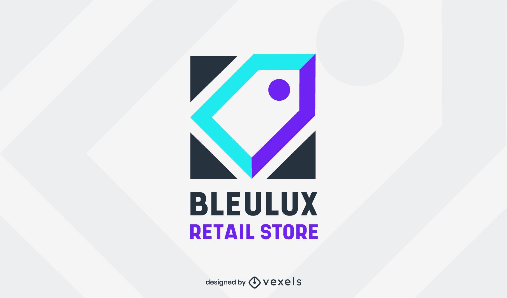 Plantilla de logotipo de tienda minorista de etiqueta de precio