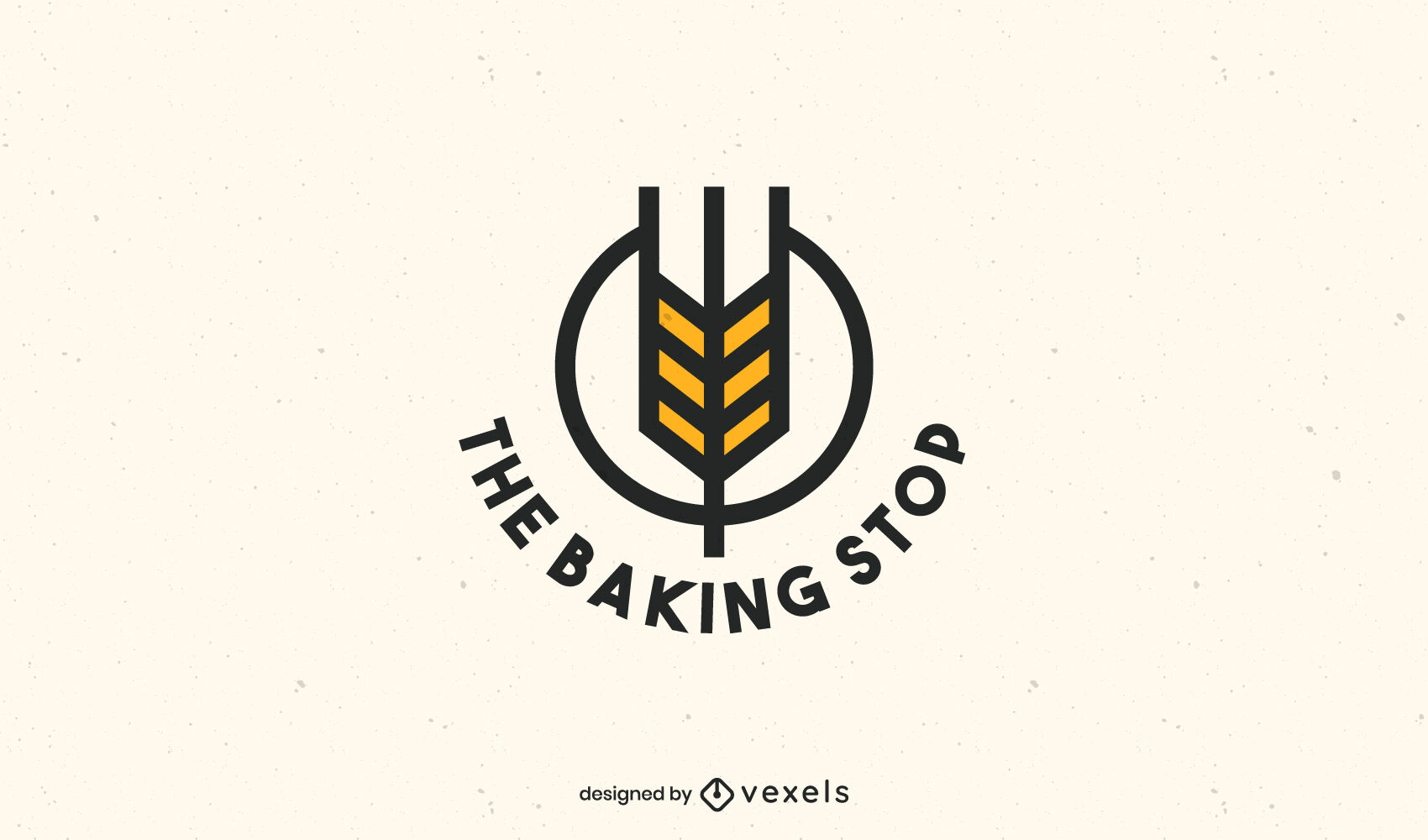 Arrow shape baking logo business template