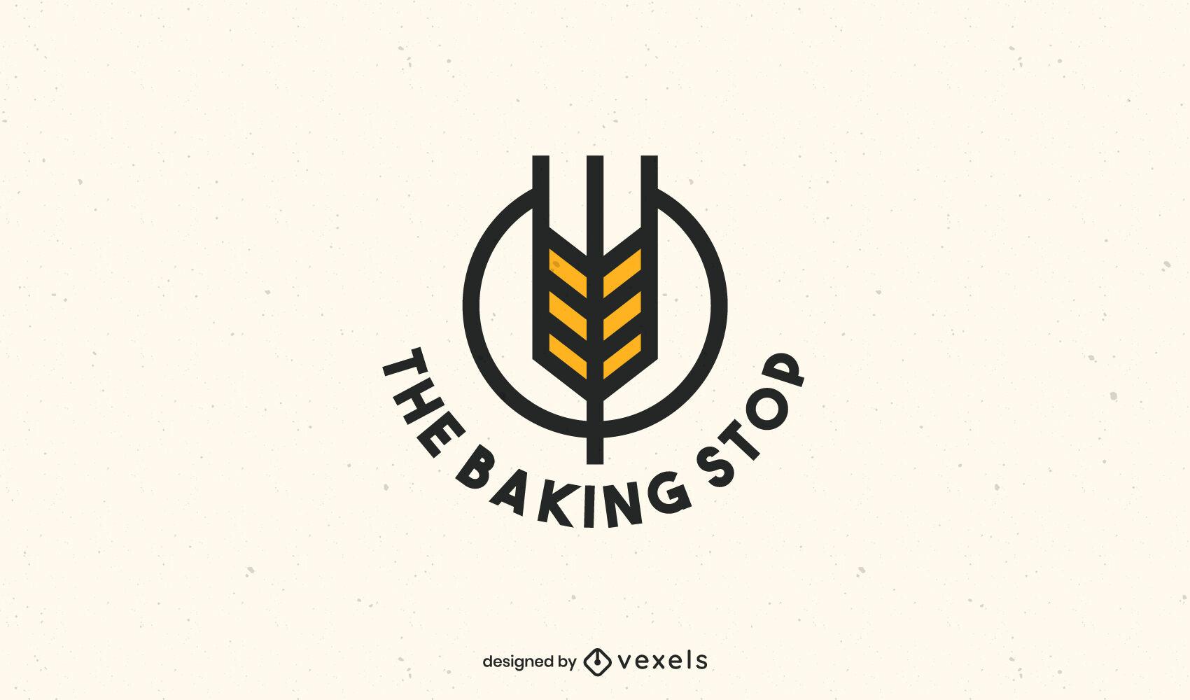 Plantilla de negocio de logotipo de hornear en forma de flecha