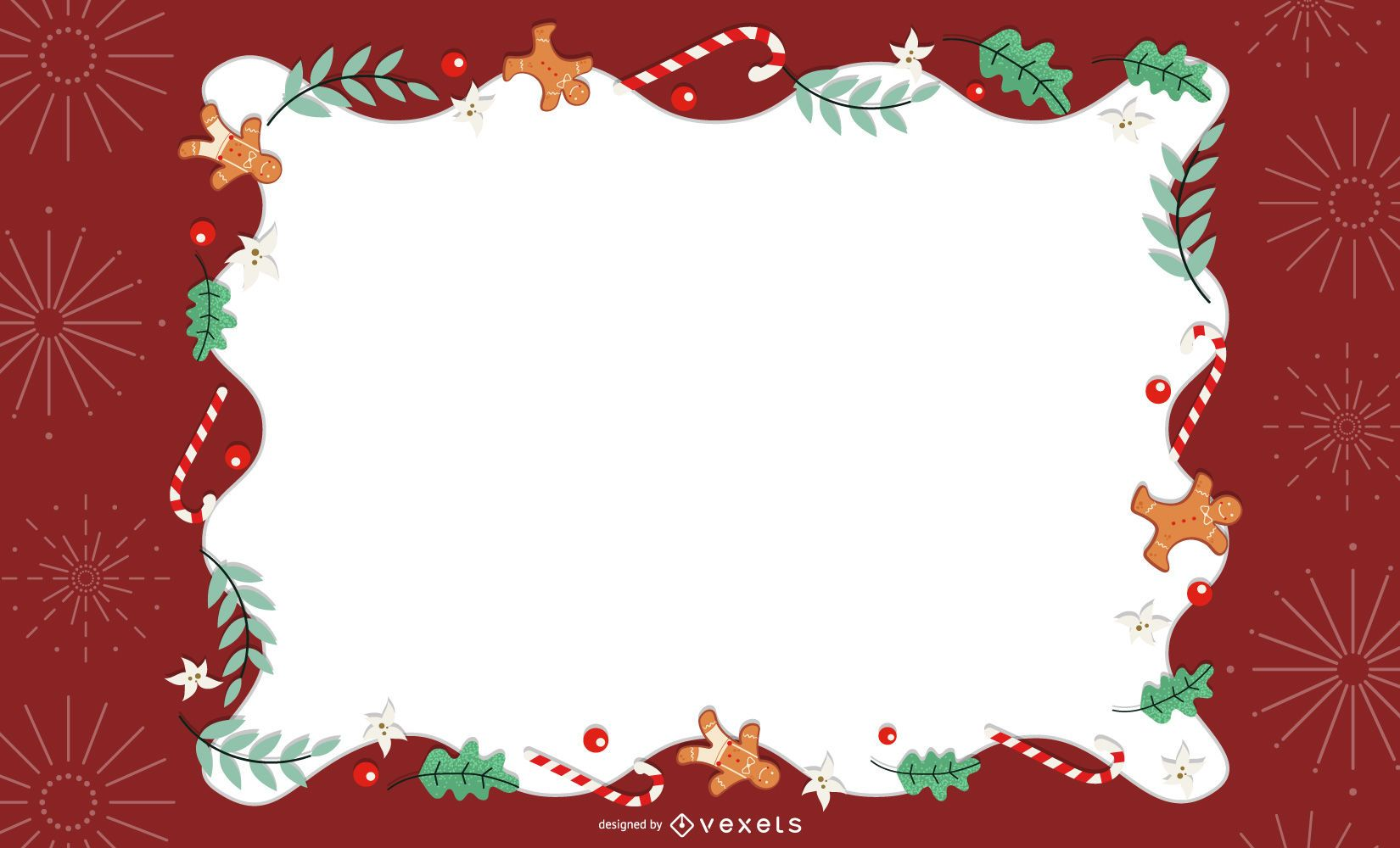 Diseño de tarjeta de marco de Navidad