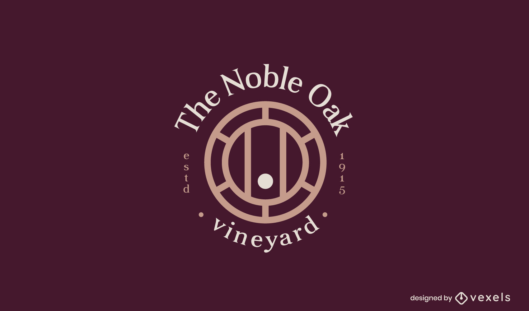 Plantilla de logotipo de empresa de bebida de barril de vino