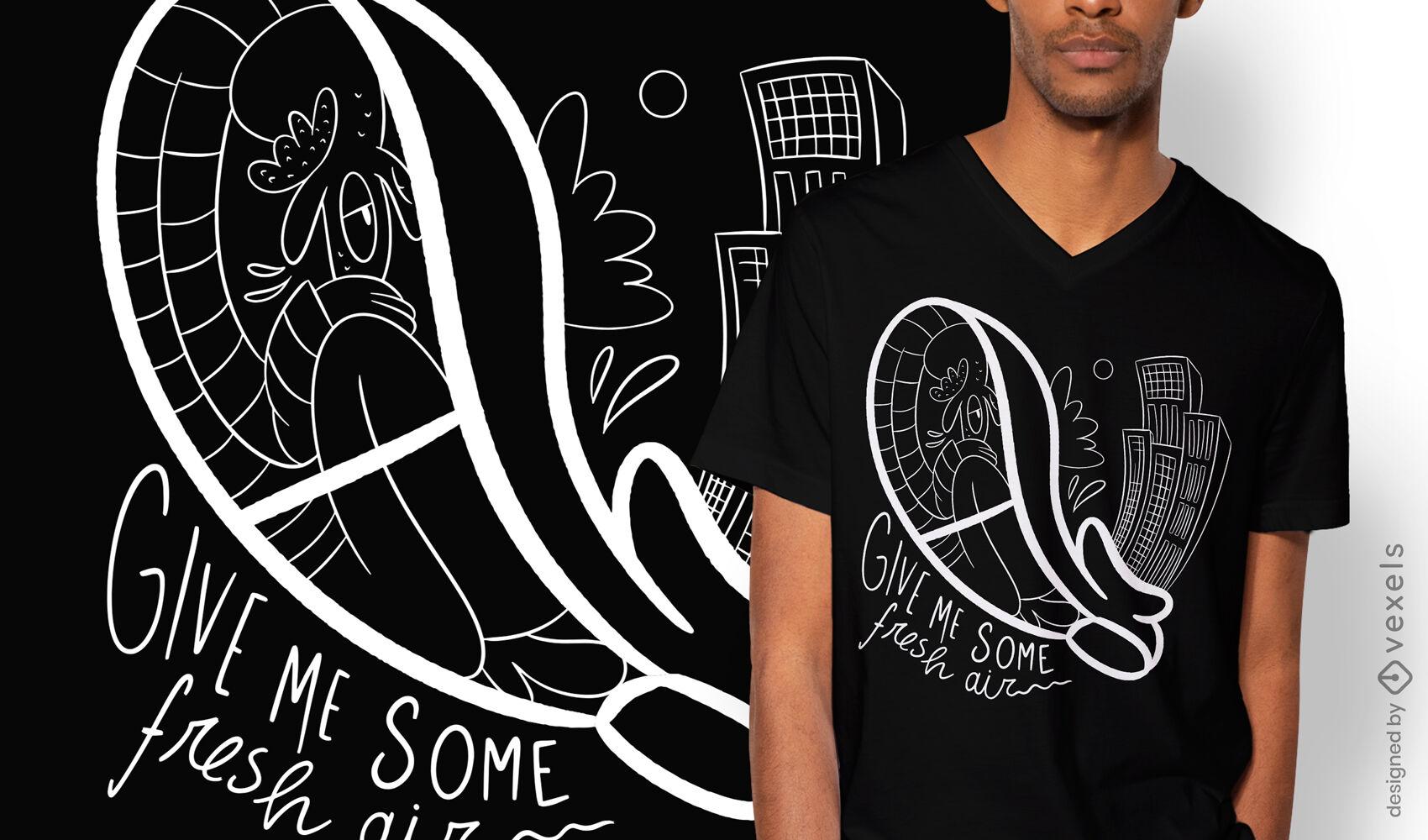 Claustrofobia no design de camisetas de sapatos