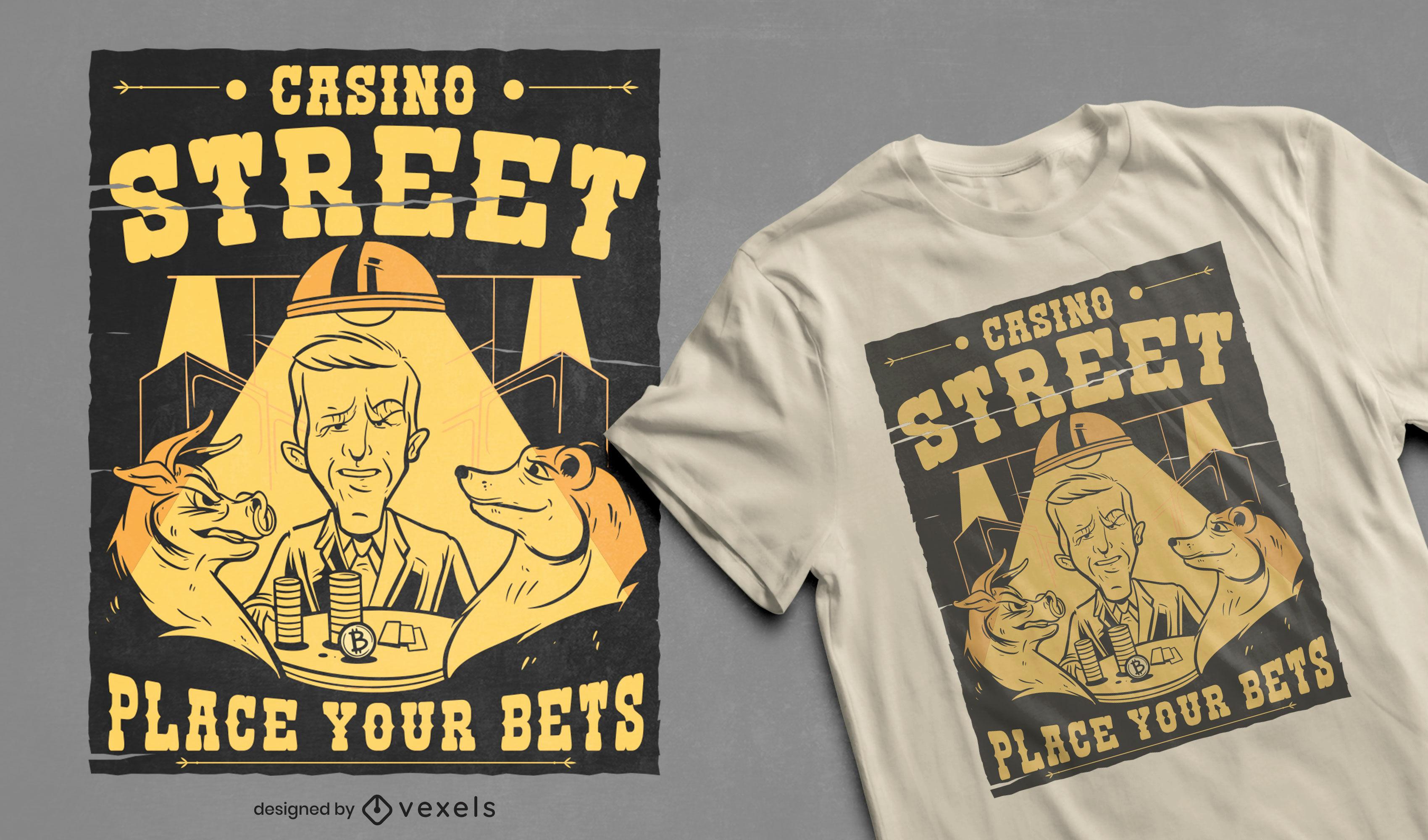 Animals playing casino poker t-shirt design