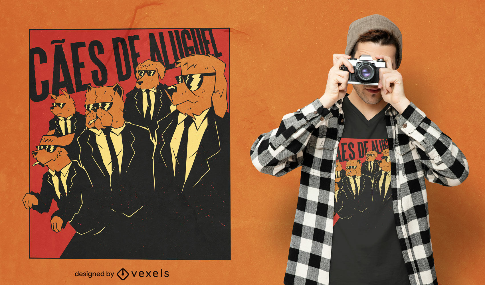 Perros en trajes camiseta película parodia diseño de camiseta
