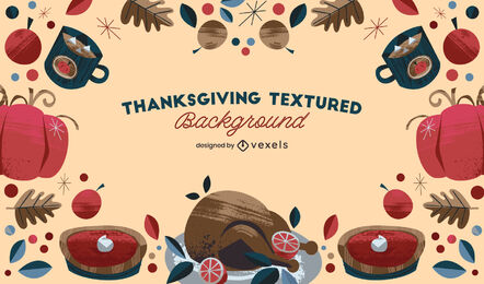 Thanksgiving dinner background design