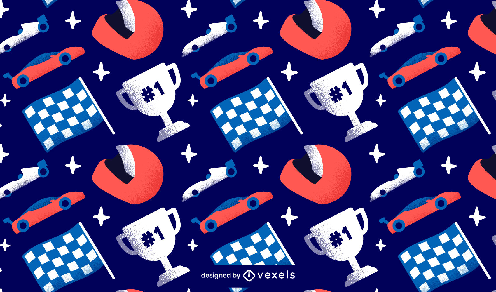 Design des Wettbewerbsmusters für Autorennen