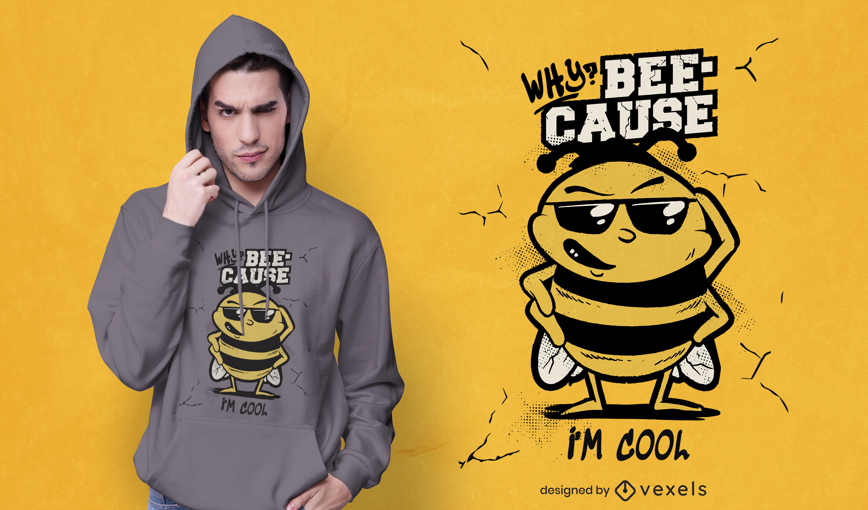 Cool bee quote t-shirt design