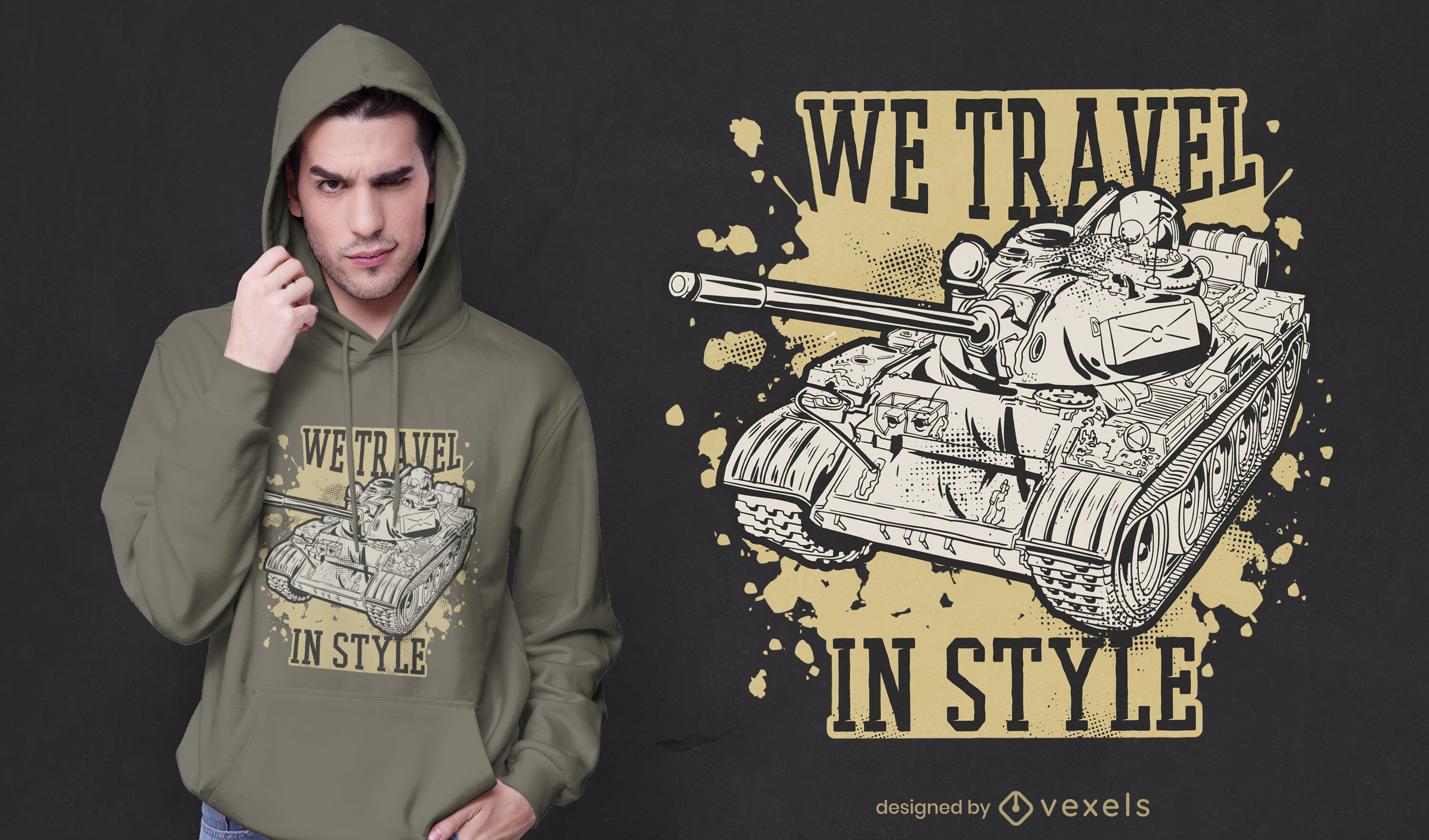 Travel in style t-shirt design