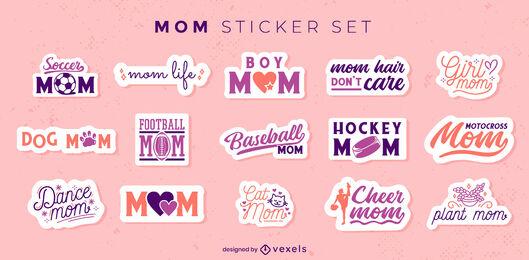 Mom lettering sticker set
