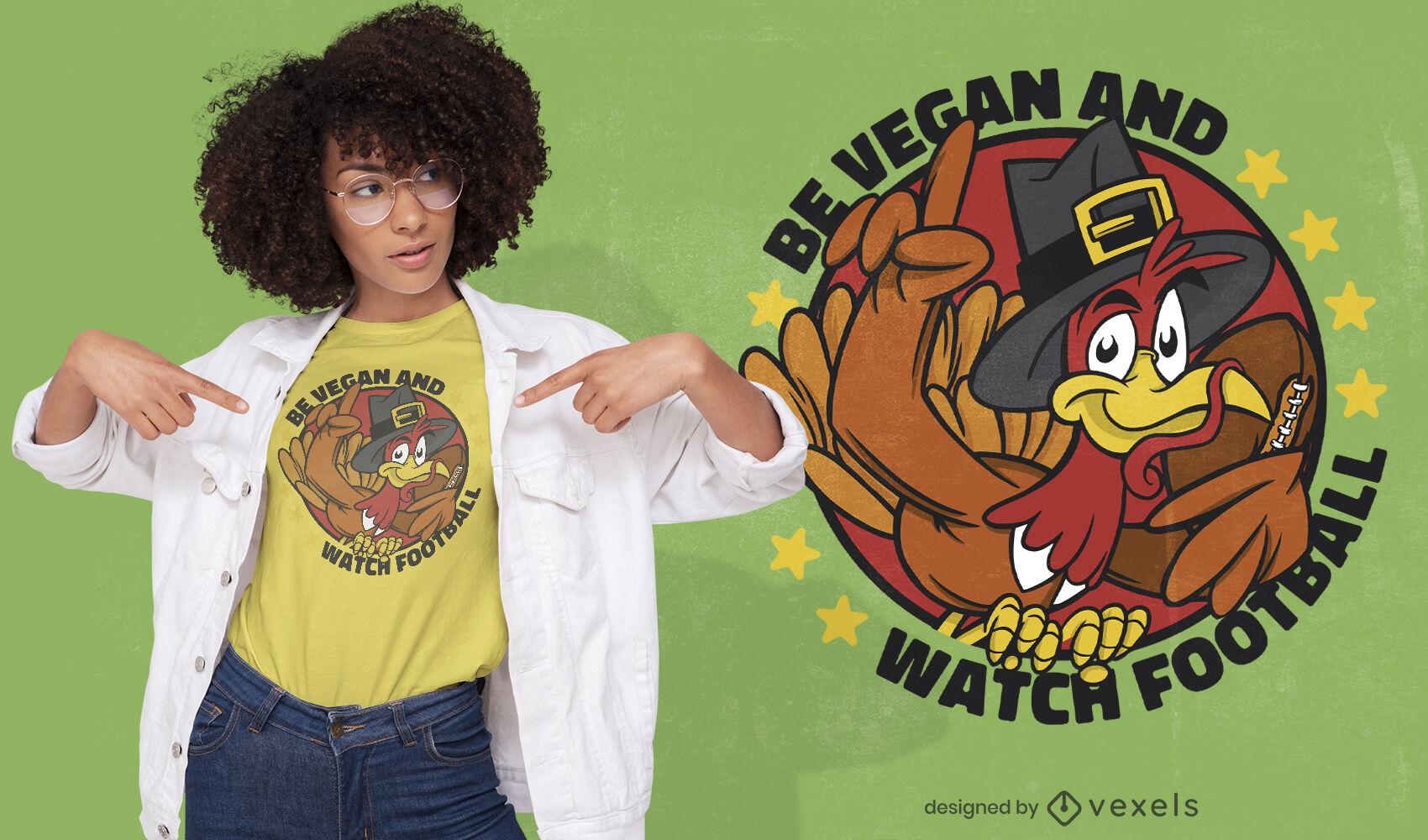 Vegan thanksgiving quote t-shirt design