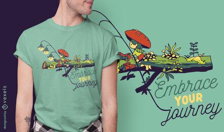 Abraza tu diseño de camiseta de cita de viaje