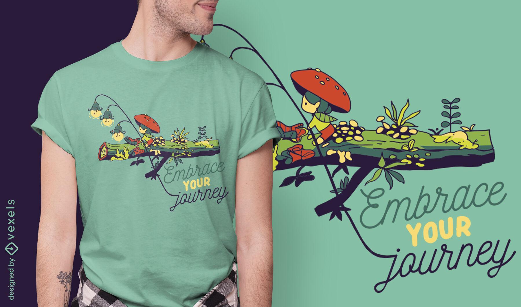 Abrace o seu design de t-shirt de citação de viagem