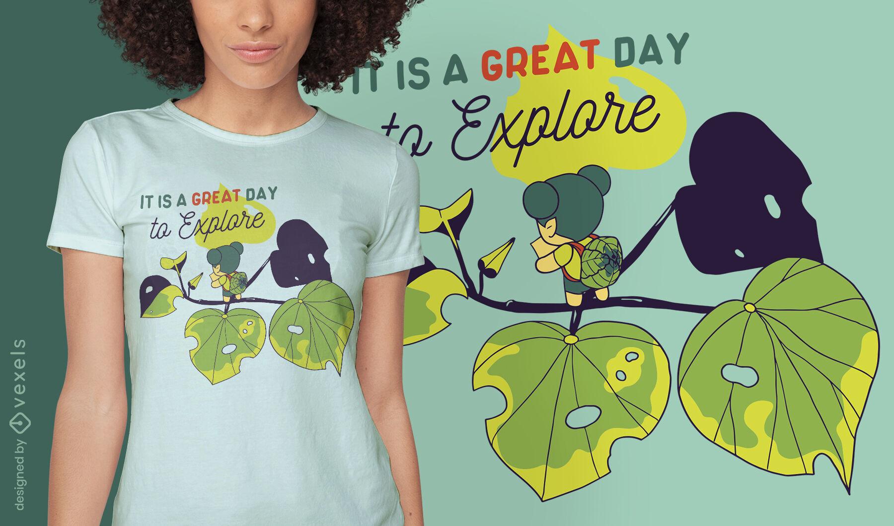 Ótimo dia para explorar o design de camisetas