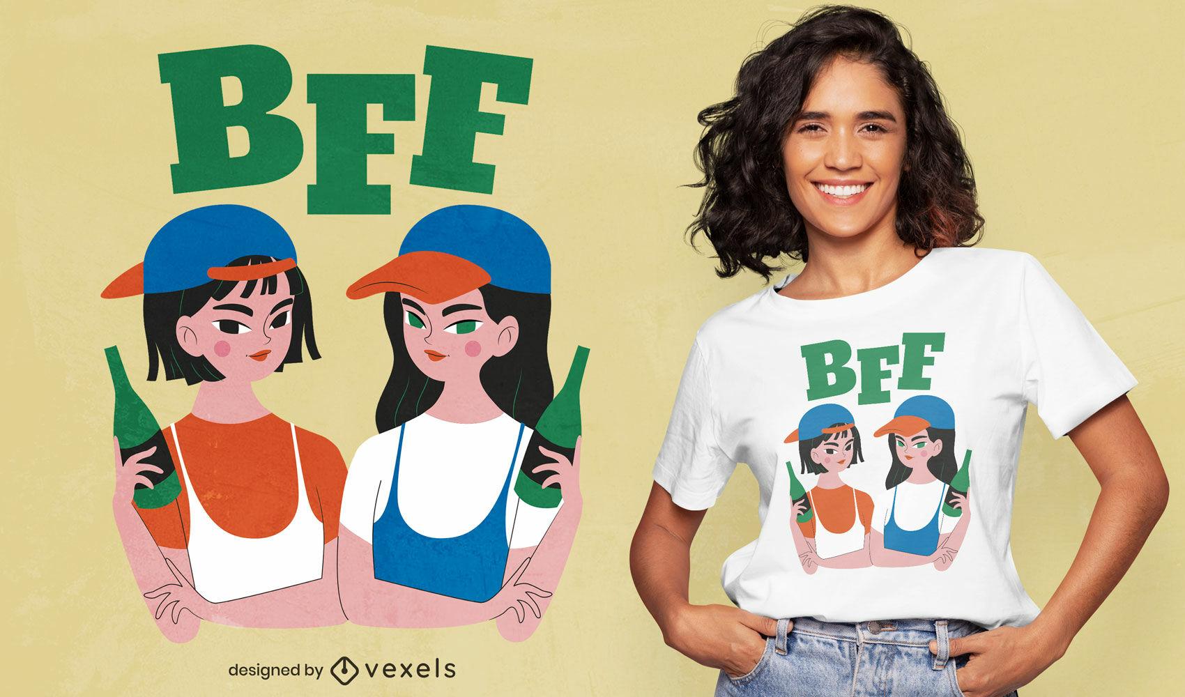 Girls best friends beer t-shirt design