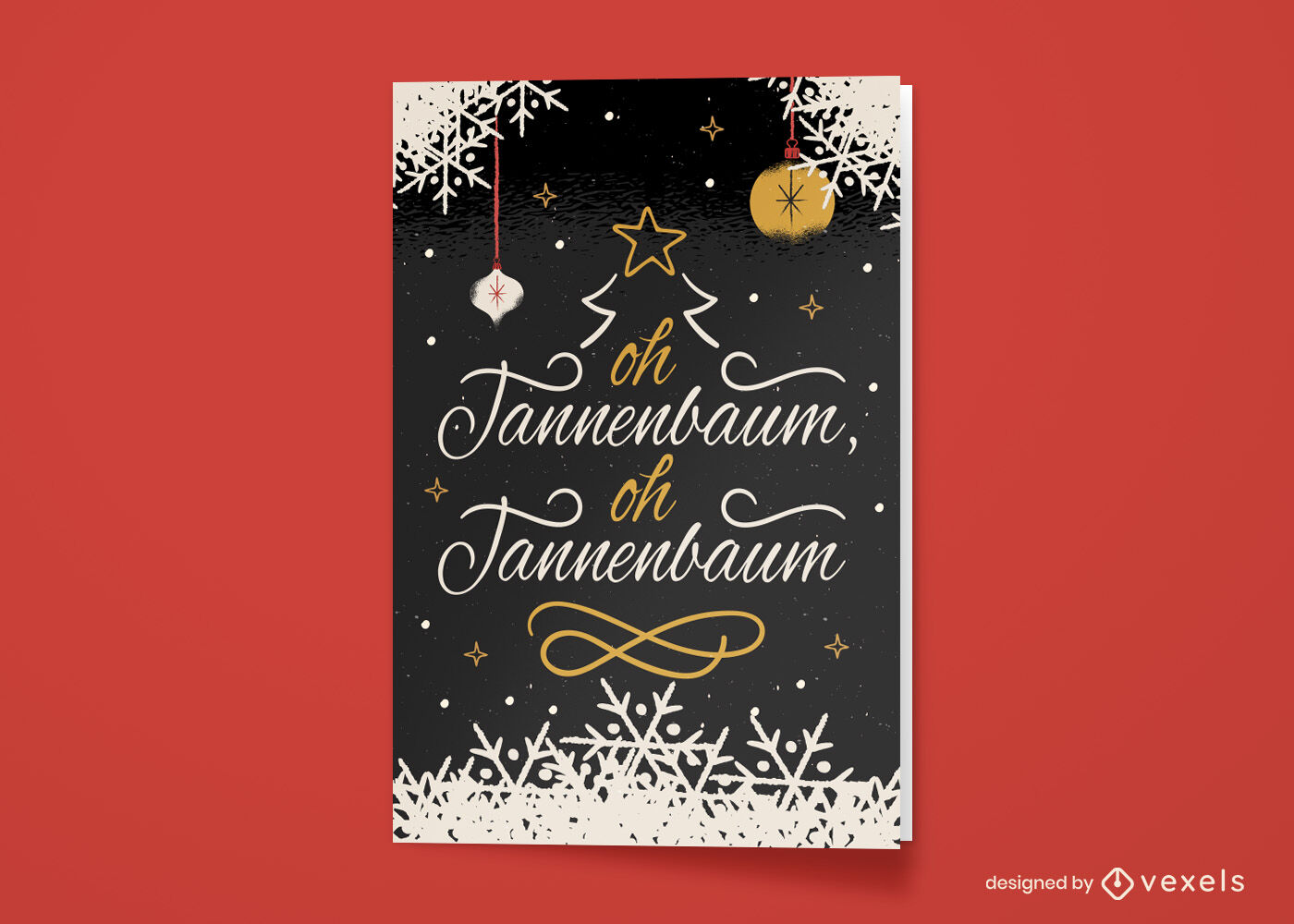 German christmas holiday greeting card