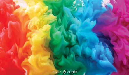 Diseño de fondo de nube de humo de arco iris