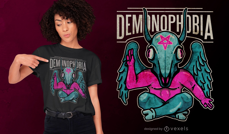 Diseño de camiseta psd demonofobia