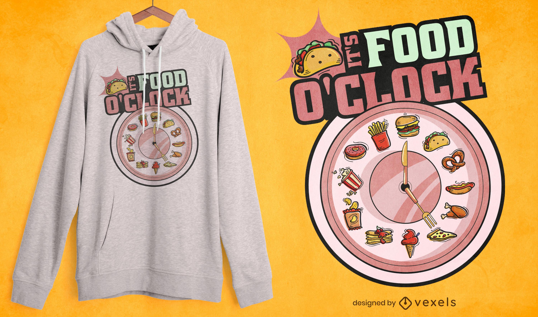 Funny Food O'clock t-shirt design