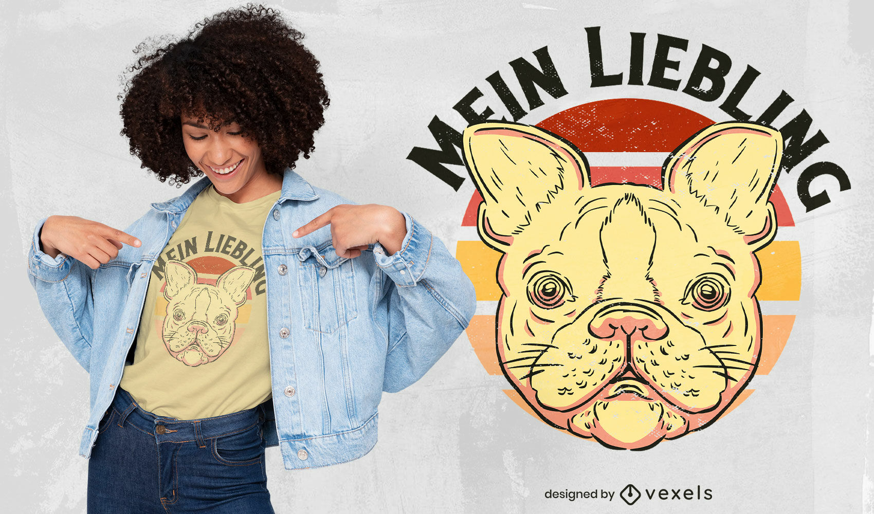 Cute french bulldog t-shirt design