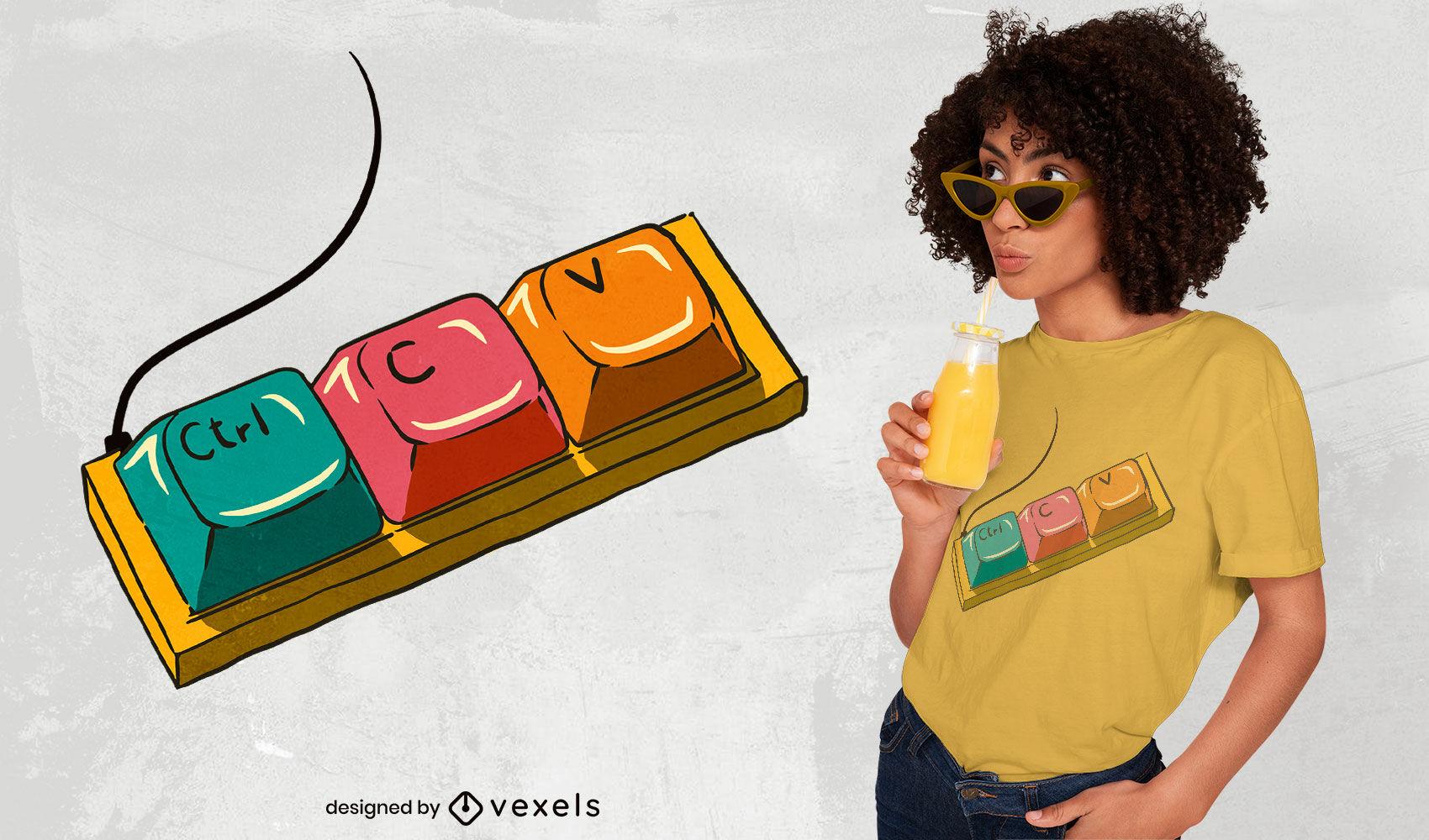 Dise?o de camiseta cool keayboard keys