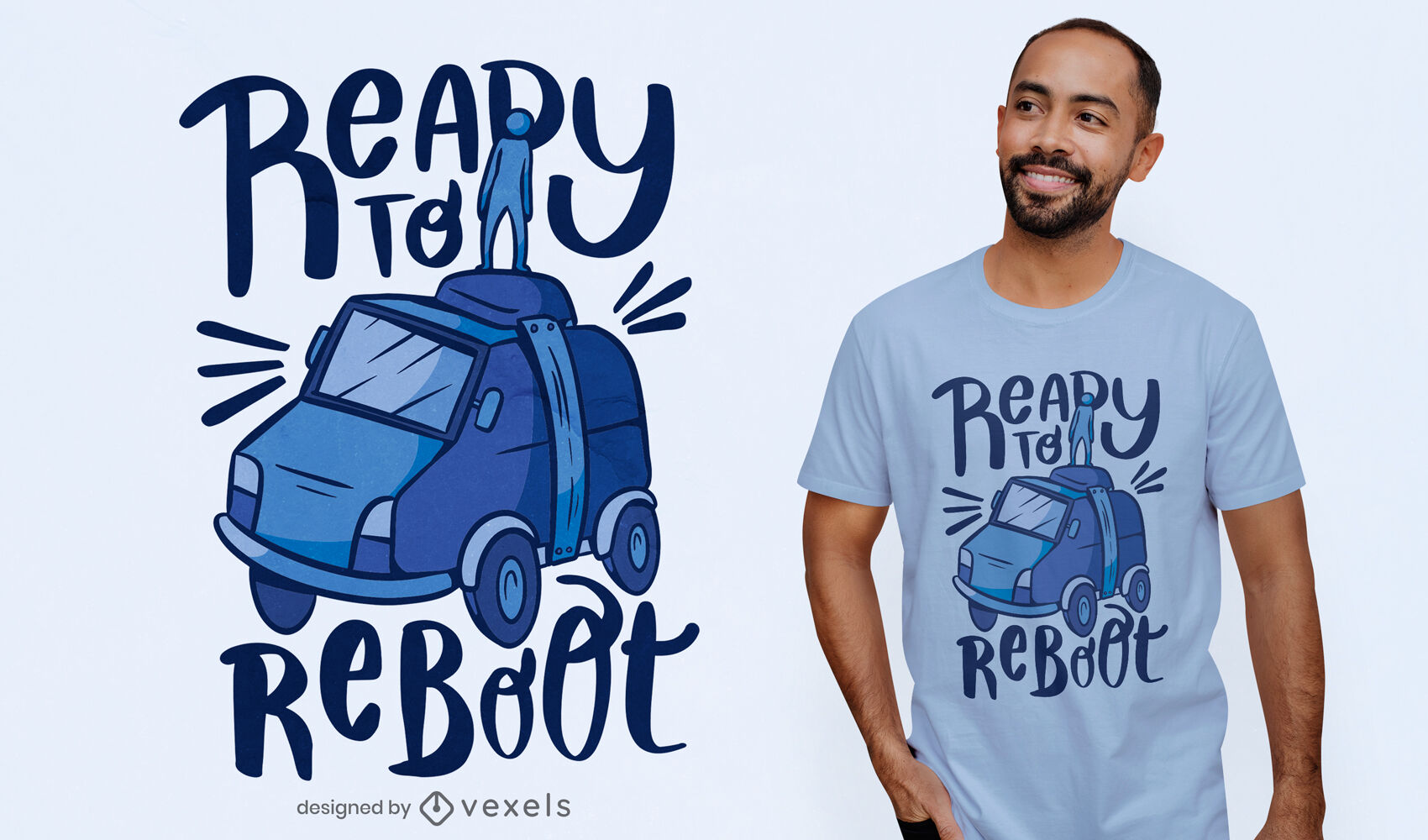 Listo para reiniciar el diseño de la camiseta del coche.