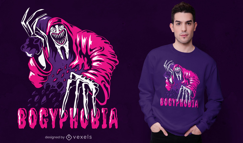 The bogeyman t-shirt design