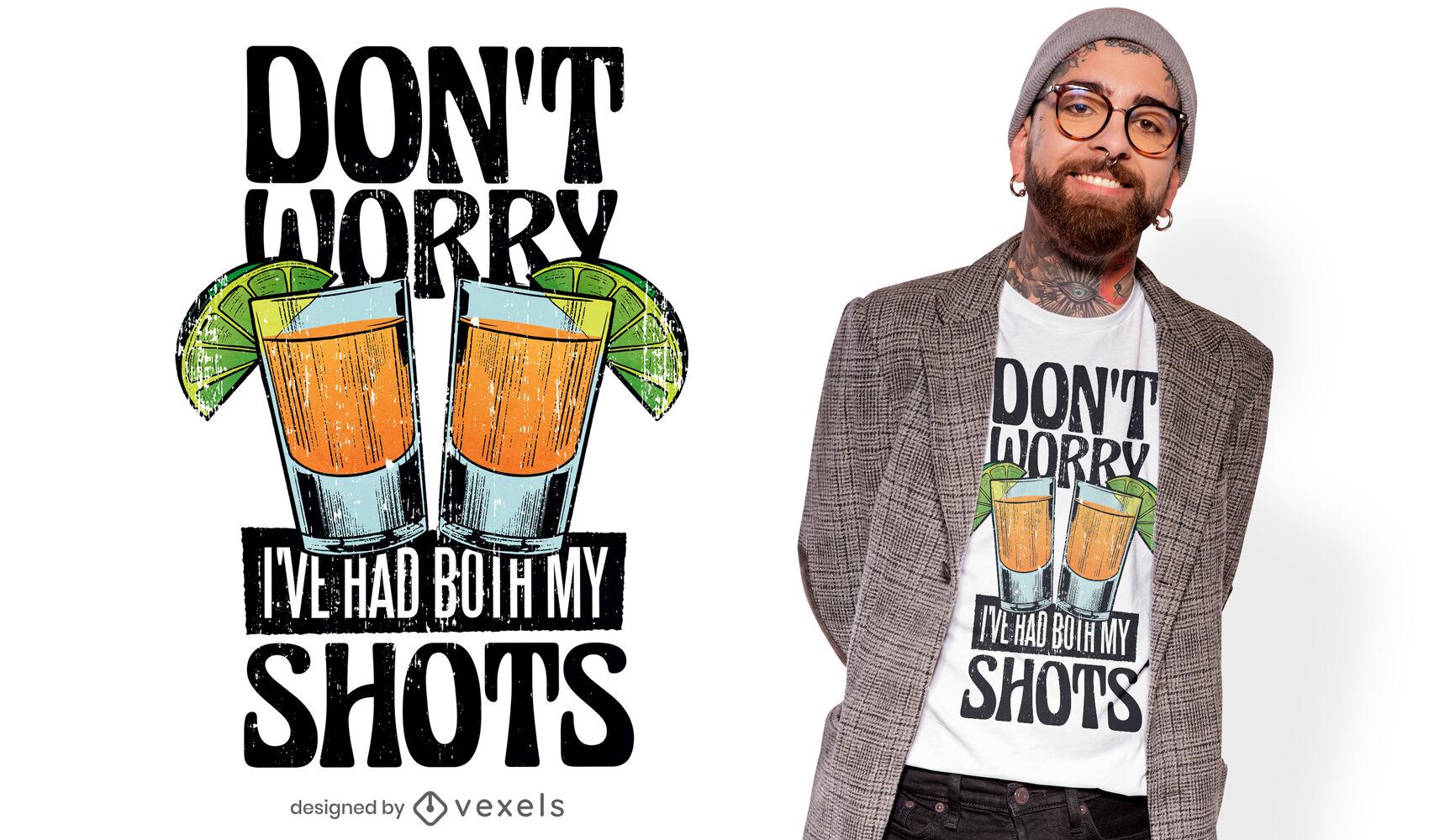 Dise?o de camiseta divertida cita bebiendo vacuna