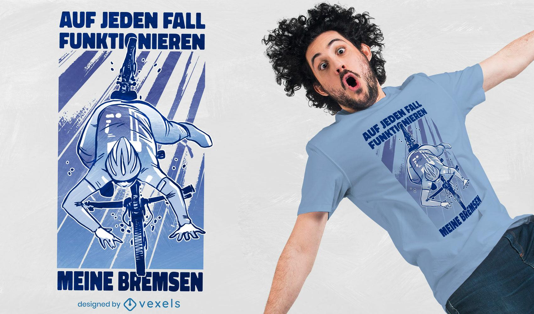 Diseño de camiseta ciclista cayendo