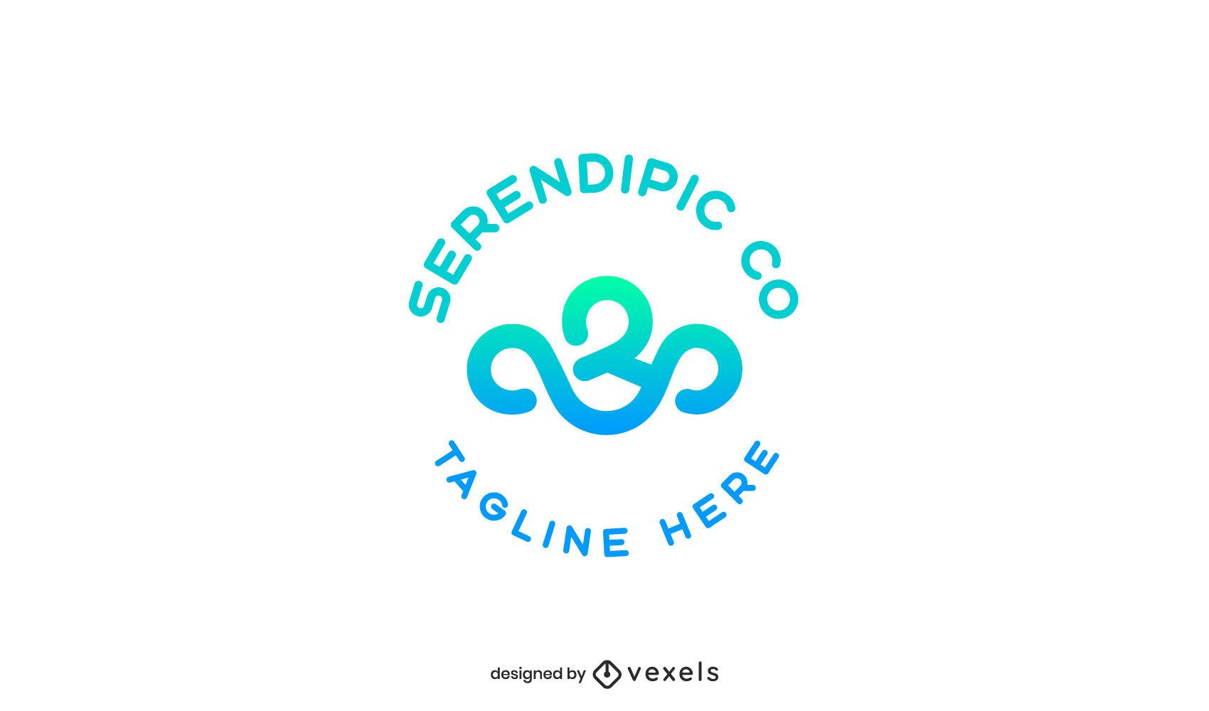 Plantilla de logotipo degradado de forma abstracta
