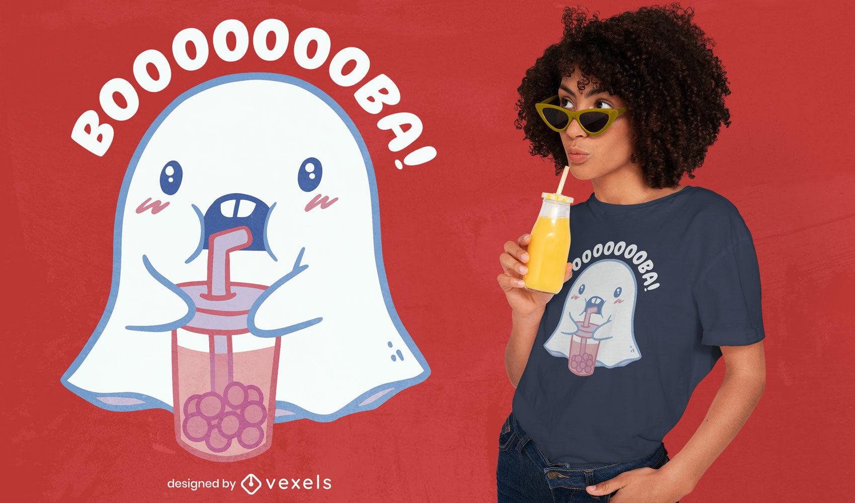 Süßes Geister-T-Shirt-Design
